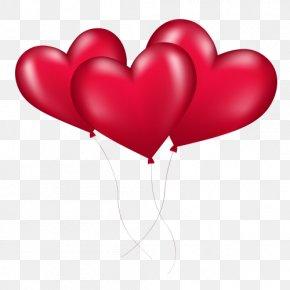 Love Balloon - Balloon Heart Valentine's Day Clip Art PNG