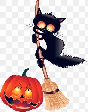 Creative Black Cat - Black Cat Kitten Halloween Clip Art PNG