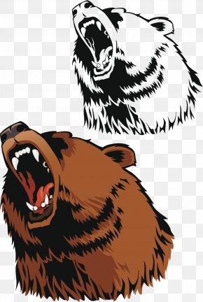 Ferocious Brown Bear - Brown Bear American Black Bear Grizzly Bear PNG