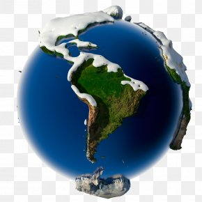 Blue Earth Vector - Earth Snow Planet Illustration PNG