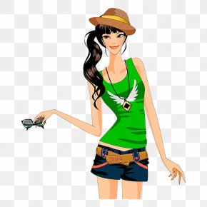 A Woman Wearing A Hat - Woman With A Hat PNG