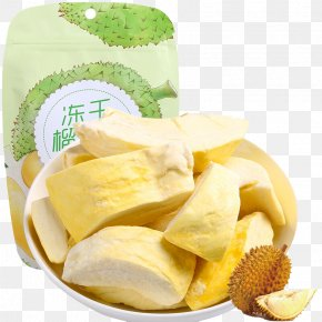 Frozen Durian Dry - Durio Zibethinus Thai Cuisine Dried Fruit Freeze-drying Snack PNG