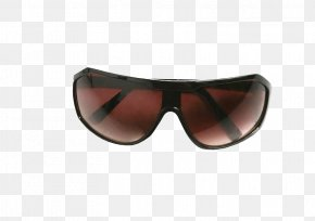 Brown Lens Sunglasses - Goggles Sunglasses Brand PNG