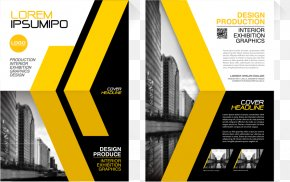 Vector Yellow Lines Tall Flyer - Flyer Brochure Euclidean Vector Illustration PNG