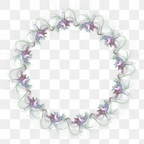 FLORAL CIRCLE - Picture Frames Digital Photo Frame Clip Art PNG