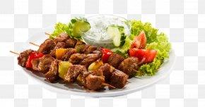 The Kebab In The Plate - Doner Kebab Barbecue Shawarma Shish Kebab PNG