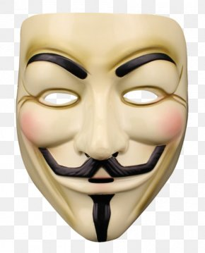 Anonymous Mask - Guy Fawkes Mask Anonymous Halloween Costume V For Vendetta PNG