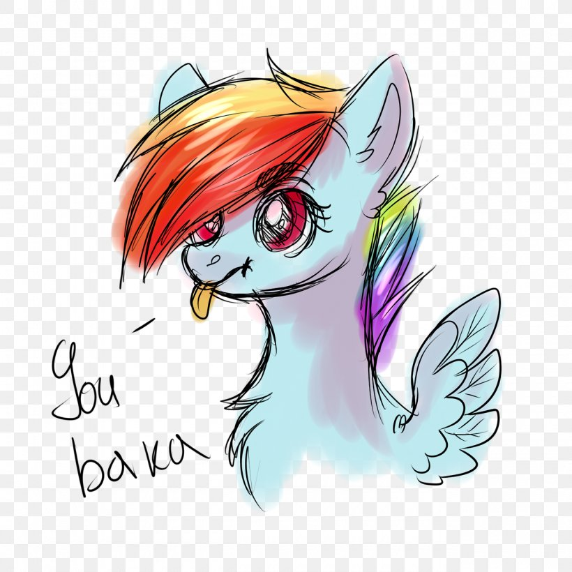 Pony Horse Illustration Legendary Creature Ear, PNG, 1280x1280px, Watercolor, Cartoon, Flower, Frame, Heart Download Free