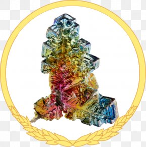 Marathon - Bismuth Crystal Mineral Chemical Element Periodic Table PNG