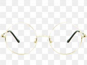 Glasses - Goggles Sunglasses Light Gold PNG