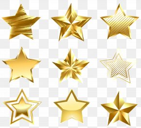 Transparent Golden Stars Set Clipart - Star Gold Diagram Clip Art PNG