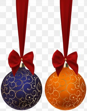 Christmas Balls Blue Orange Clip Art Image - Christmas Ornament Clip Art PNG