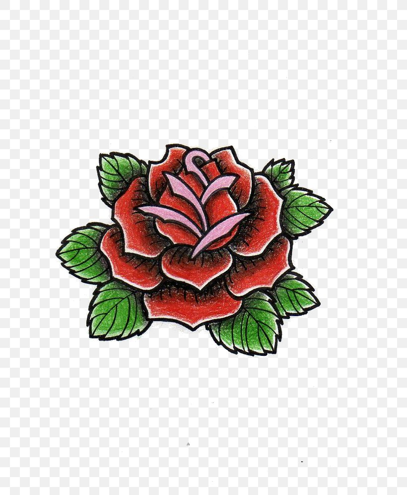 Old School (tattoo) Drawing Rose Sketch, PNG, 736x996px, Old
