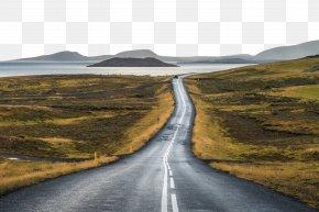 Qinhuangdao Road Landscape - Iceland Road Landscape Illustration PNG