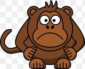 Funny Turkey Clipart - Ape Chimpanzee Monkey Cartoon PNG
