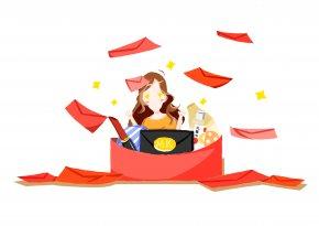Red Packets, Red Envelopes, Red Packets - Red Envelope Bag Illustration PNG