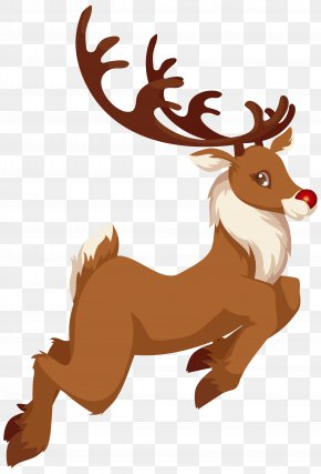 Christmas Rudolph Clip Art Image - Rudolph Santa Claus Reindeer Christmas Clip Art PNG