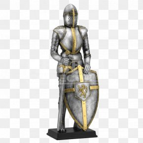 Knight - Middle Ages Knight Statue King Arthur Sculpture PNG
