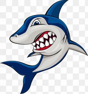 Cartoon Shark - Shark Cartoon Clip Art PNG