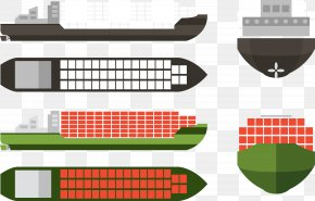 Container Ship Collection Vector - Container Ship Intermodal Container Transport PNG