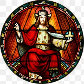 Watercolor Stain - Feast Of Christ The King Stained Glass Quas Primas The Social Rights Of Jesus Christ The King PNG