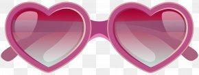Pink Heart Sunglasses Clipart Image - Aviator Sunglasses Clip Art PNG