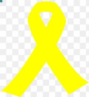 GOLDEN RİBBON - Yellow Ribbon Awareness Ribbon Clip Art PNG
