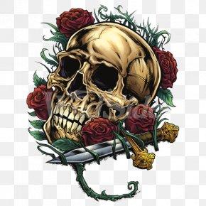 Skull - Human Skull Symbolism Clip Art Rose Image PNG