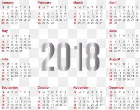 2018 - Lunar Calendar Clip Art PNG