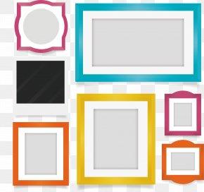 Exquisite Photo Frame Design - Picture Frame Film Frame Flat Design PNG