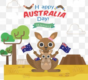 Cute Kangaroo Flat - Australia Day Kangaroo Icon PNG