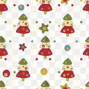 Vector Christmas Element Background - Christmas Tree Santa Claus Pattern PNG