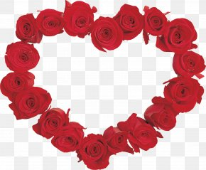 HEART FLOWER - Valentine's Day Garden Roses Flower Clip Art PNG