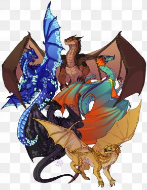Wings Of Fire Fanart - Wings Of Fire Drawing Dragon Image PNG