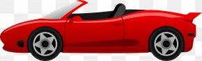 Red Sports Car - Sports Car Ferrari Cartoon Clip Art PNG