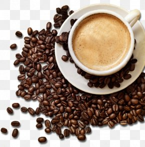 Mellow Coffee And Coffee Beans - Coffee Tea Latte Cappuccino Cafe PNG