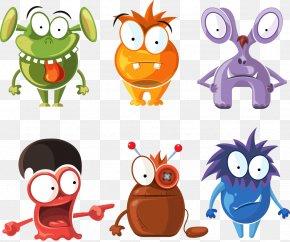 Vector Cartoon Monster - Monster Cartoon Character Illustration PNG