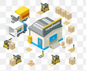 Vector Warehouse Truck - Warehouse Royalty-free Euclidean Vector Stock Illustration PNG
