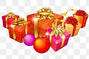 Birthday Gift - Christmas Tree Gift Clip Art PNG