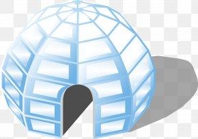 Mesh Cabin - Igloo House Eskimo Clip Art PNG