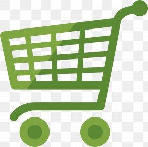 Green Shopping Cart - Shopping Cart Online Shopping E-commerce Icon PNG