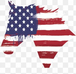 United States - Flag Of The United States Horse Independence Day PNG