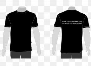 Black T-shirt Vector - Printed T-shirt Polo Shirt PNG