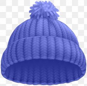Blue Winter Hat Clip Art Image - Hat Beanie Knit Cap Clip Art PNG