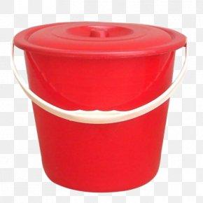 Red Plastic Bucket - Plastic Bucket Red PNG