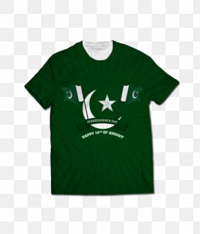 14 August Independence Day Pakistan - Printed T-shirt Clothing Raglan Sleeve PNG