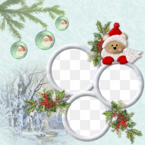 Christmas Bear Frame Material - Picture Frame Christmas Photography PNG