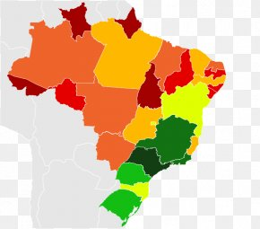 Map - Regions Of Brazil United States Of America Blank Map Vector Graphics PNG