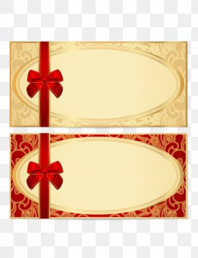 Vector Invitation Card Design - Coupon Gift Card Voucher Template Stock Photography PNG