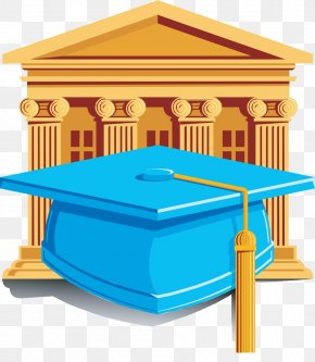 Graduation Of Blue Doctor Cap - Graduation Ceremony Doctorate Royalty-free Academic Degree Clip Art PNG